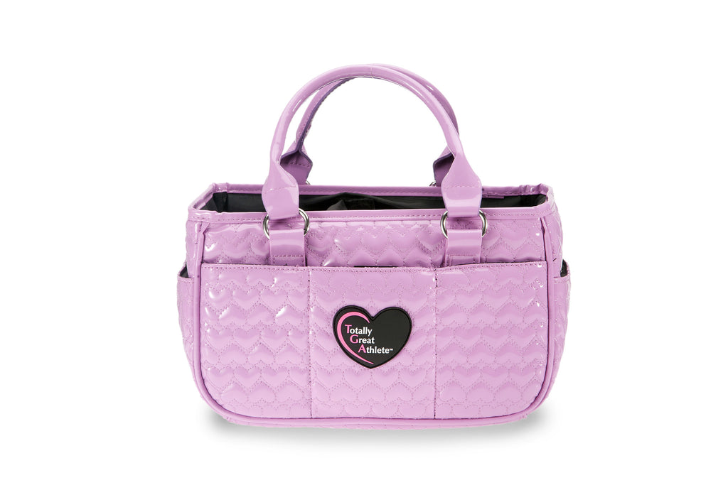 Glossy Lavender Heart TGA Athletic Handbag