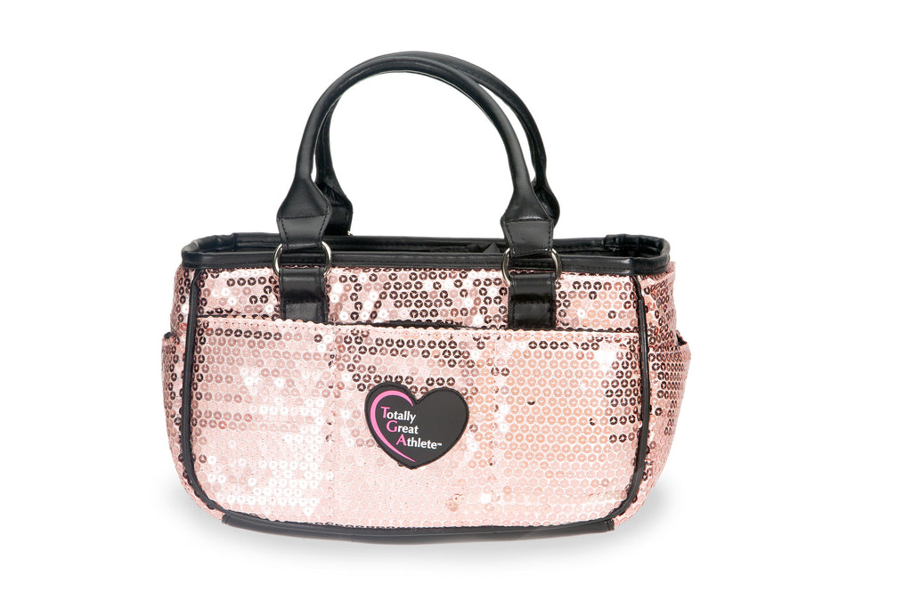 Peach Sequin TGA Athletic Handbag