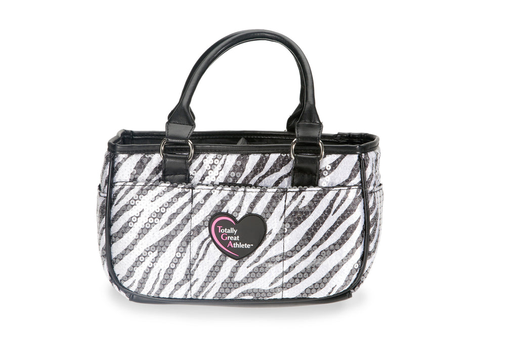 Zebra Sequin TGA Athletic Handbag