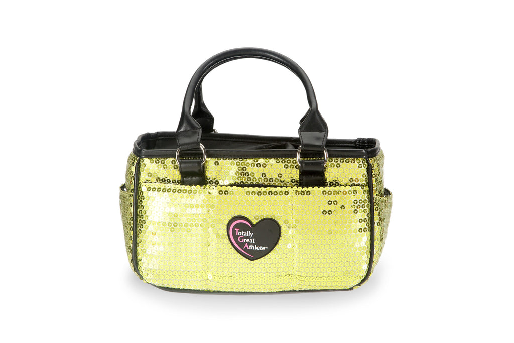 Green Sequin TGA Athletic Handbag