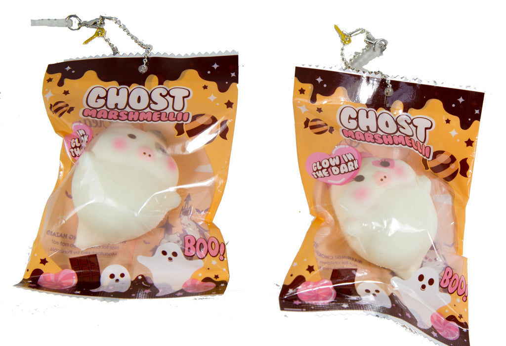 Marshmellii the Halloween Ghost Mini Piggy Squishy Scented and GLOW in the Dark