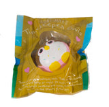 Timekeeper Owl Squishy Chocolate sundae version front view in packaging
