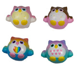 Timekeeper Owl Squishy all 4 versions front view