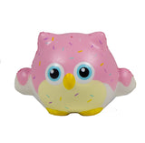 Timekeeper Owl Squishy strawberry sundae sprinkles version front view