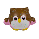 Timekeeper Owl Squishy Chocolate sundae version front view