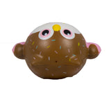 Timekeeper Owl Squishy Chocolate sundae version top view