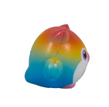 Timekeeper Owl Squishy Rainbow Heart version side  view