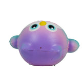 Timekeeper Owl Squishy Mini Purple Heart version top view
