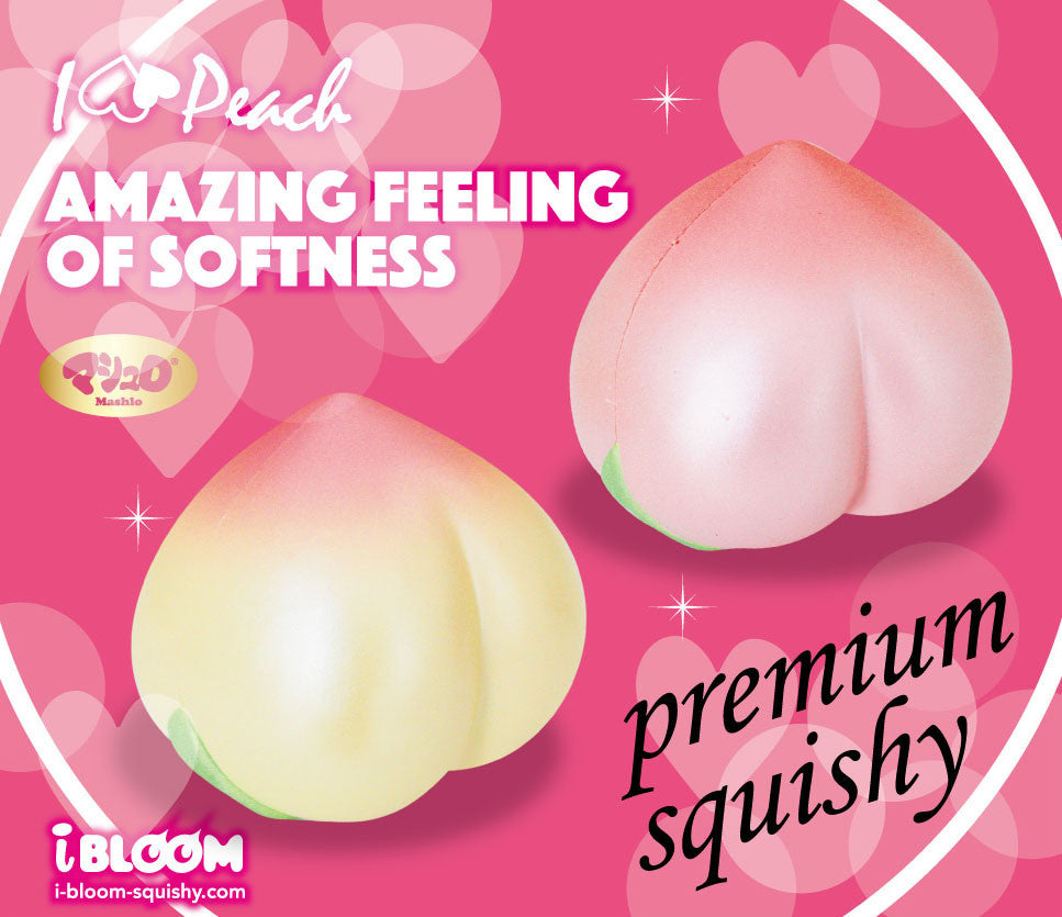New ibloom Medium I Love Peach Squishy with New Package
