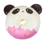 Puni Maru Jumbo Animal Donut Squishy Chocolate Panda version front view