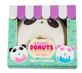 Puni Maru Jumbo Animal Donut Squishy Chocolate Panda version in box front view