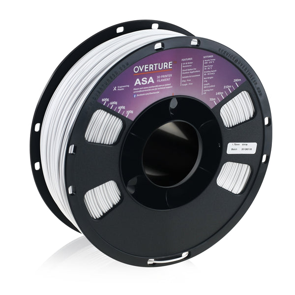 Overture ASA filament 1.75mm (white)