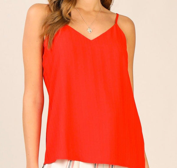 Red Textured Cami