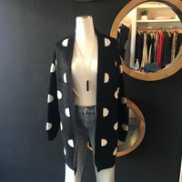 Penny Black and White Polka Dot Sweater