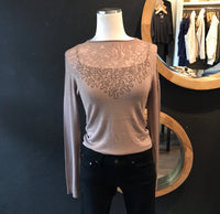 Mabel Marbeled Burn Out Sweater