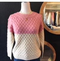 Paula Pink Knit Sweater