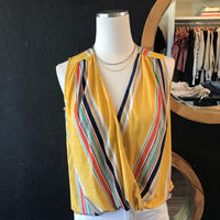 Sally Stripe Yellow Tank