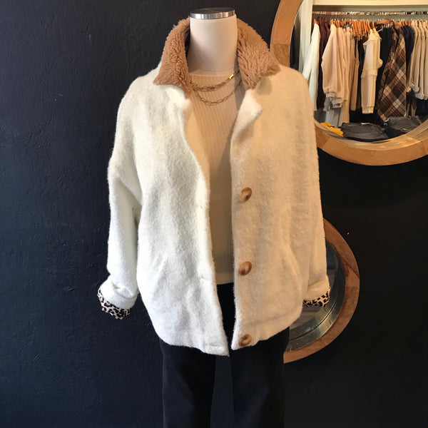 Farrah Fuzzy Knitted Jacket