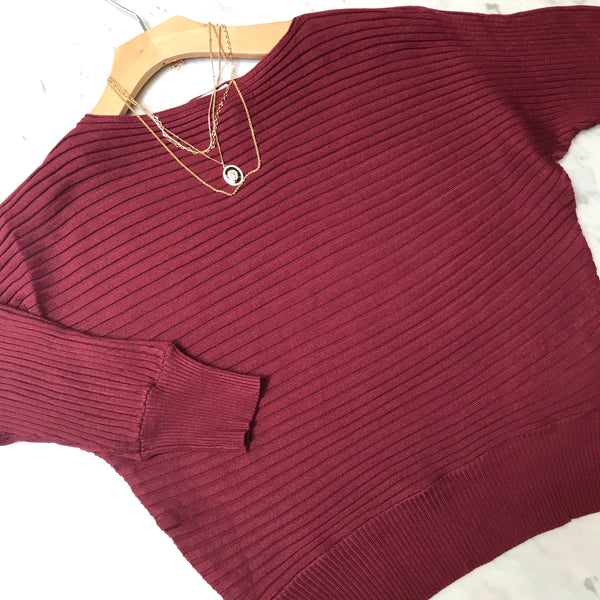 Bella Burgundy Sweater