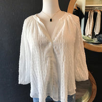 Willow Off White Button Down Woven Top