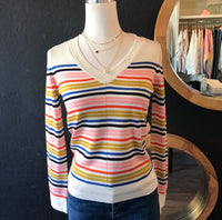 Mandy Multi Color Striped Sweater