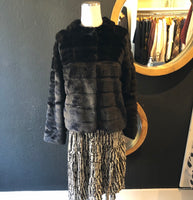 Frieda Faux Fur Tiered Jacket
