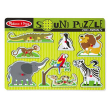Load image into Gallery viewer, Zoo Animals Sound Puzzle - 8 pieces
