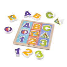 Load image into Gallery viewer, First Play Wooden ABC-123 Chunky Puzzle