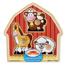 Load image into Gallery viewer, Barnyard Animals Jumbo Knob Puzzle - 3 Pieces