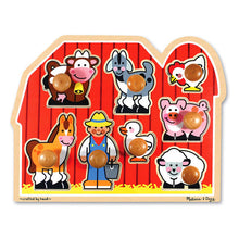 Load image into Gallery viewer, Large Farm Jumbo Knob Puzzle - 8 pieces