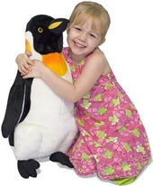 Load image into Gallery viewer, Penguin Giant Stuffed Animal