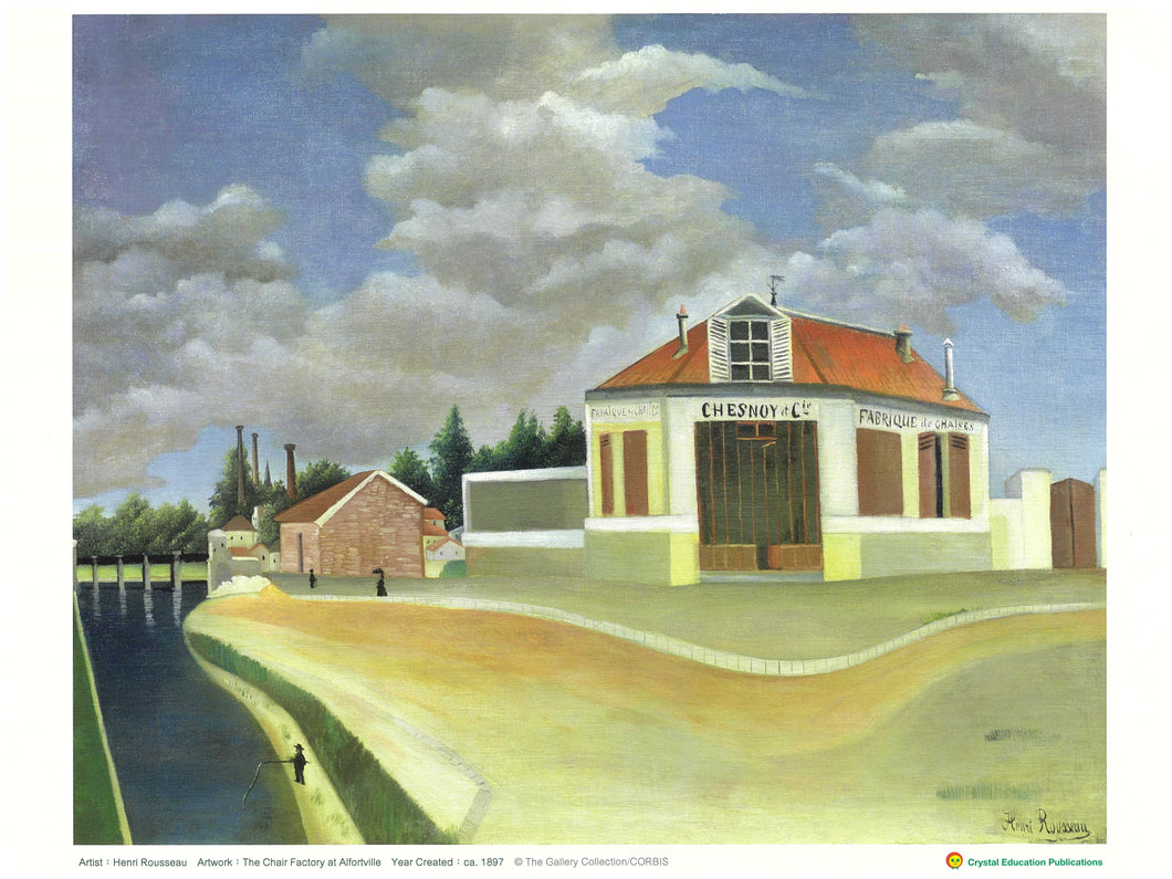 The Chair Factory at Alfortville (Henri Rousseau, 1897) 椅子工廠