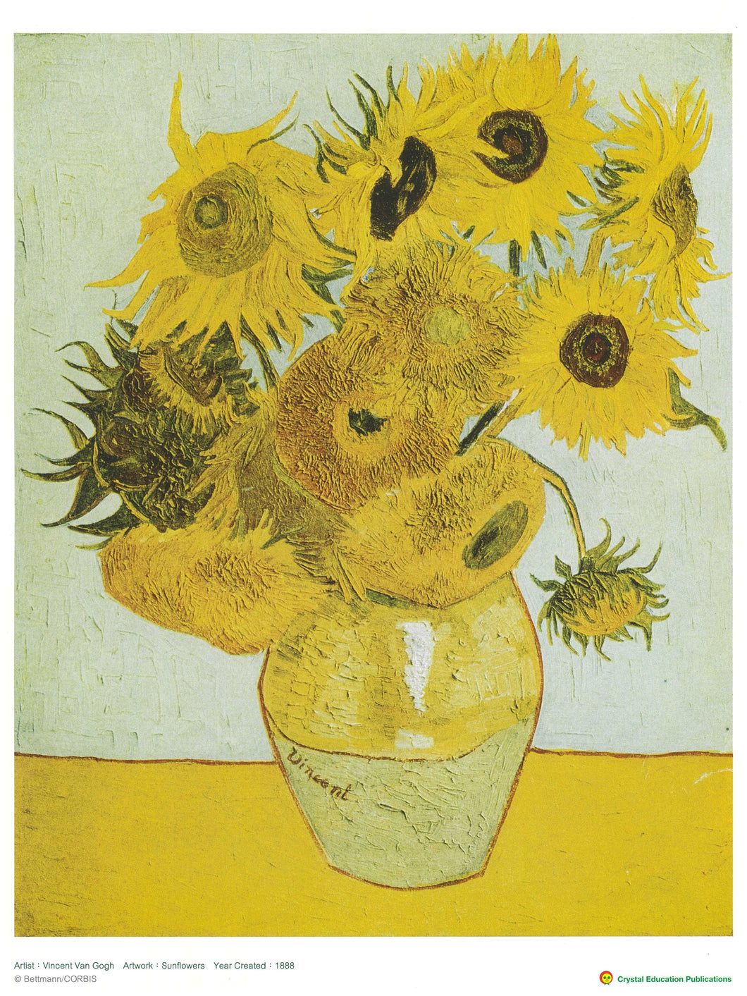 Sunflowers (Vincent Van Gogh, 1888) 向日葵