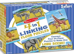 Safari 4-in-1 Linking Floor Puzzle 96 pieces