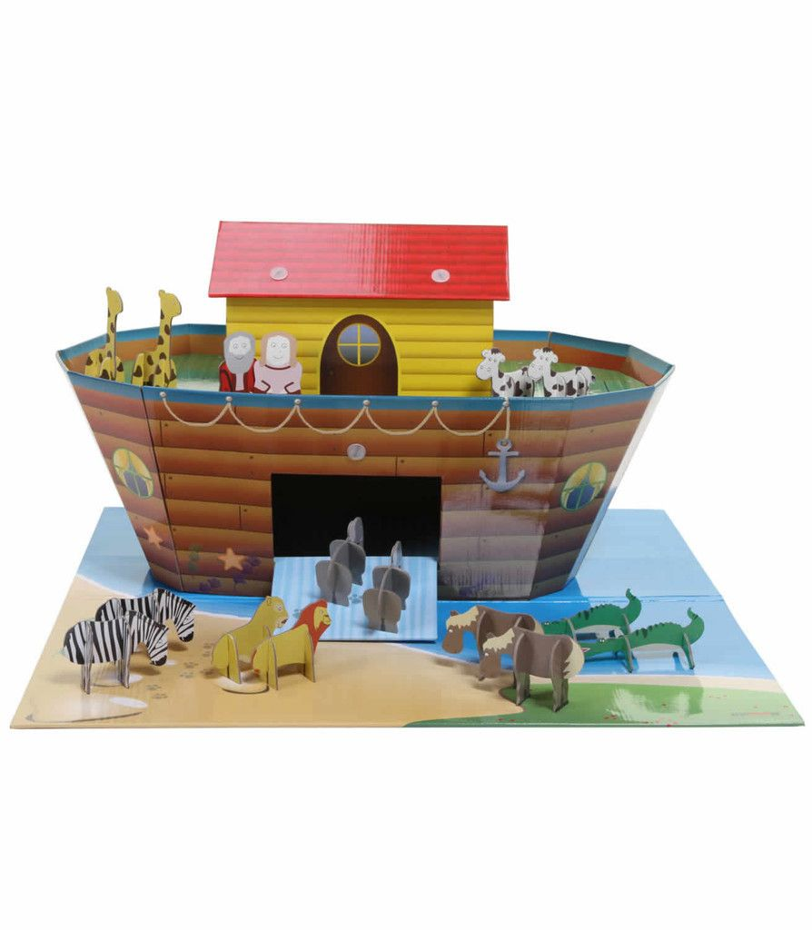 KROOM Noah's Ark Play Set - with play mat and set of 16 figures