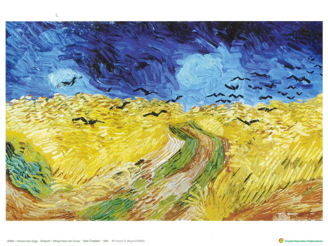 Wheat Field with Crows (Vincent Van Gogh, 1890)     麥田群鴉
