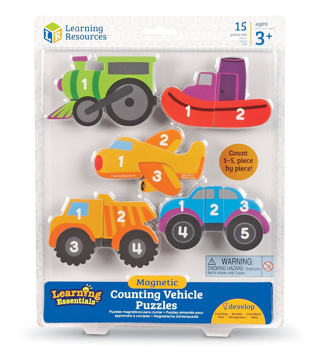Magnetic Counter Vehicle Puzzles