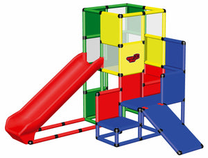 Play Tower with Integrated Slide and Baby Slide