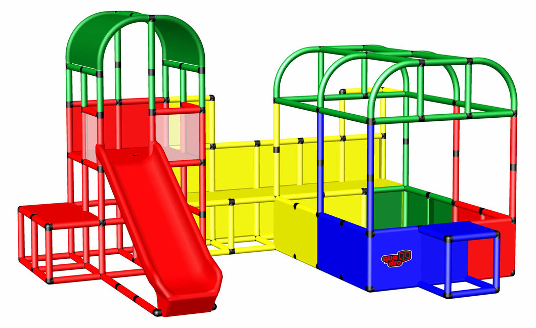 Play Landscape with Ball Pit and Climbing Tower