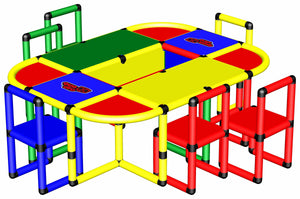 Play Table with 6 Chairs
