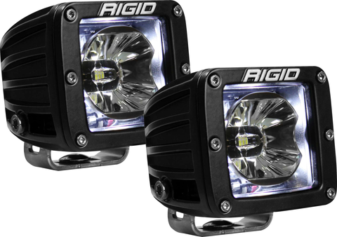 LED Pod with White Backlight Radiance RIGID Industries - Auxiliary Light - Rigid Industries - Texas Complete Truck Center