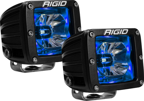 LED Pod with Blue Backlight Radiance RIGID Industries - Auxiliary Light - Rigid Industries - Texas Complete Truck Center