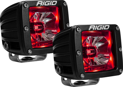 LED Pod with Red Backlight Radiance RIGID Industries - Auxiliary Light - Rigid Industries - Texas Complete Truck Center