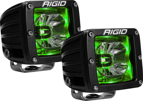 LED Pod with Green Backlight Radiance RIGID Industries - Auxiliary Light - Rigid Industries - Texas Complete Truck Center