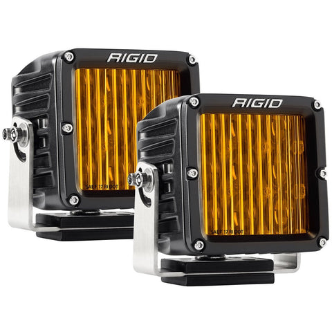 SAE J583 Compliant Selective Yellow Fog Light Pair D-XL Pro Street Legal Surface Mount Rigid Industries - Fog Lights - Rigid Industries - Texas Complete Truck Center