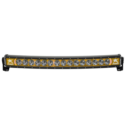 30 Inch LED Light Bar Single Row Curved Amber Backlight Radiance Plus RIGID Industries - LED Light Bars - Rigid Industries - Texas Complete Truck Center