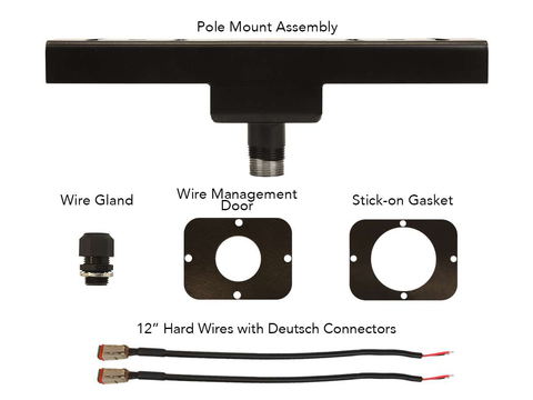 Pole Mount Kit Black RIGID Industries - Mounting Brackets(Lighting) - Rigid Industries - Texas Complete Truck Center