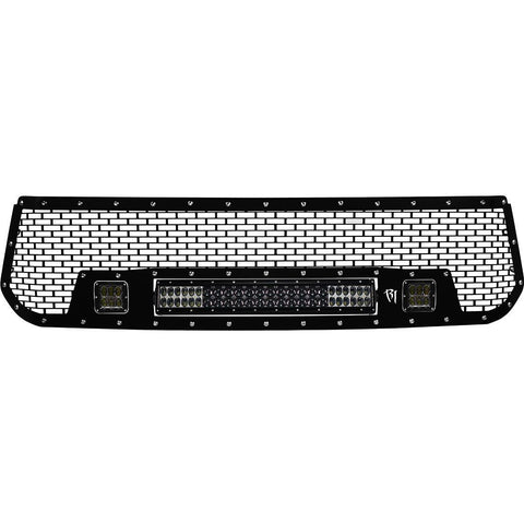 14-17 Toyota Tundra Grille Fits Two D-Series Pro and One 20 Inch D-Series Pro RIGID Industries - Grilles - Rigid Industries - Texas Complete Truck Center