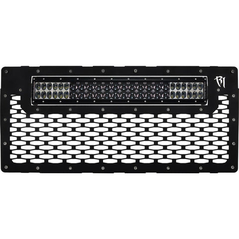07-16 Jeep JK Wrangler Grille Fits 20 Inch E-Series Pro RIGID Industries - Grilles - Rigid Industries - Texas Complete Truck Center