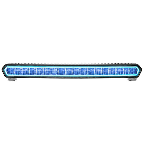 20 Inch LED Light Bar Black W/Blue Halo Off Road SR-L Series Rigid Industries - LED Light Bars - Rigid Industries - Texas Complete Truck Center